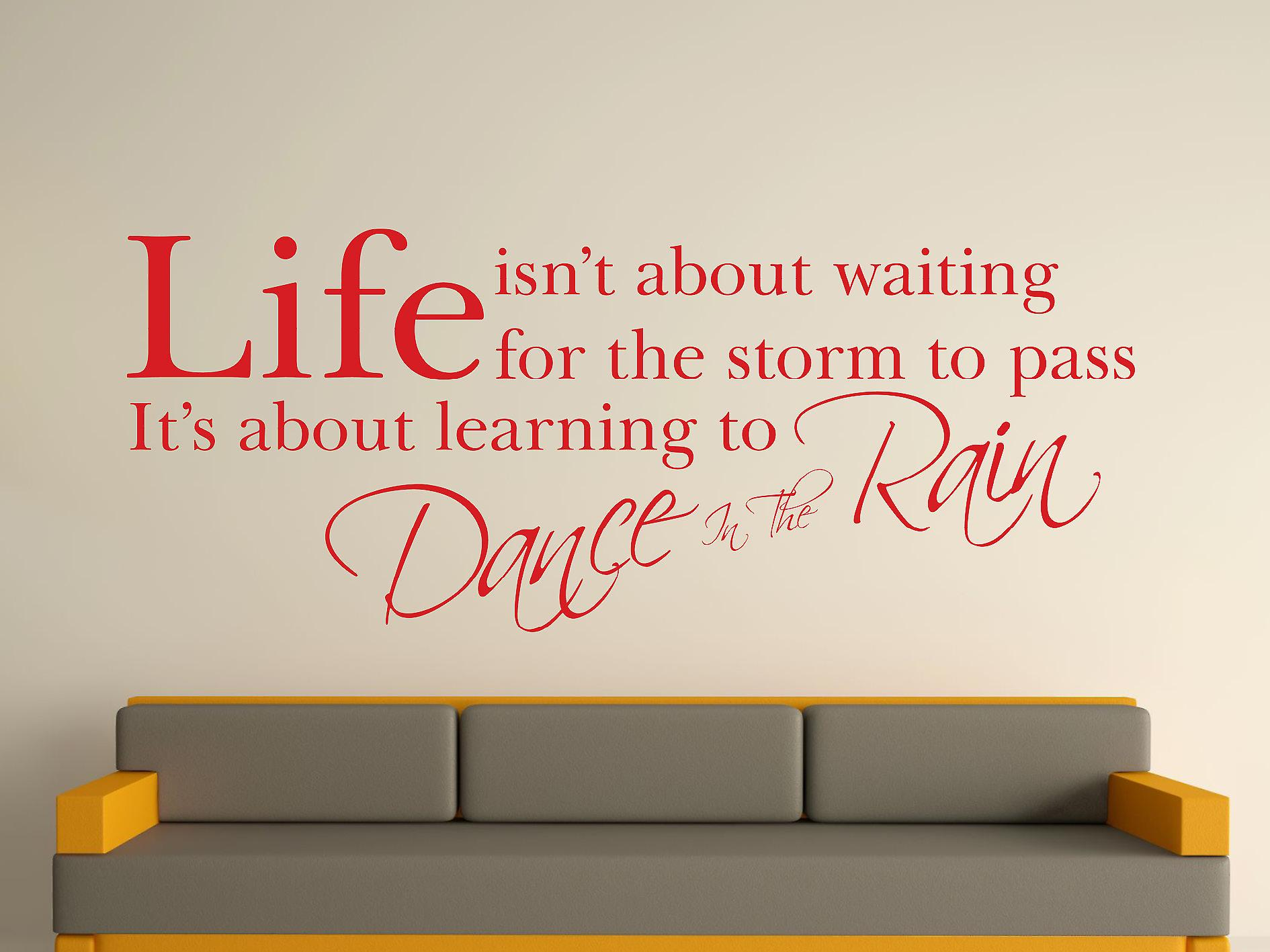 Dance In The Rain Wall Art Sticker - Cherry Red