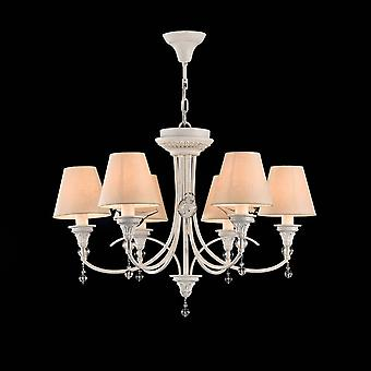 Maytoni belysning Torino Elegant ljuskrona, vit