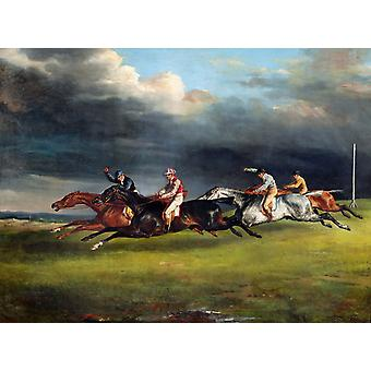 The Derby at epson,Theodore Gericault,50x37cm