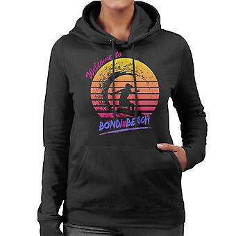 Bondi Beach Retro 80 kvinnor 's Hooded Sweatshirt