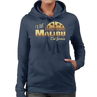 Besöka Malibu Retro California Women's Hooded Sweatshirt