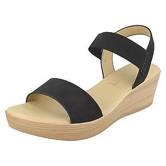 Ladies Savannah Mid Wedge Sandals F10878