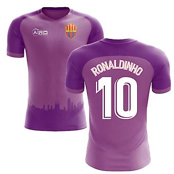 2018-2019 Barcelona Third Concept Football Shirt (Ronaldinho 10)