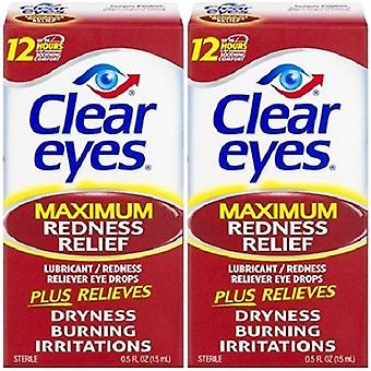 Clear Eyes Maximum Redness Relief Eye Drops 2 Pack