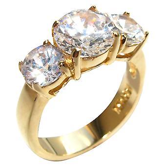 Ah! Bijoux 4,70 ct simulé diamants 3 Pierre anniversaire passé - présent - futur