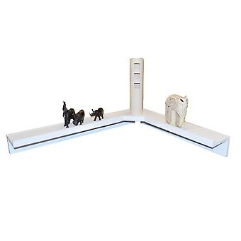 Corma - Floating Corner Storage / Display Shelf - White