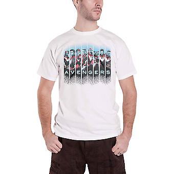 Vendicatori Endgame T Shirt Lineup Movie Logo nuovo ufficiale uomo bianco