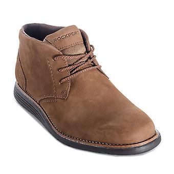 Mens Rockport Total Motion Chukka Boot In Brown- Lace Fastening- Trutech� -