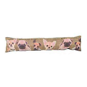 Photochromatic Print Draught Excluder: Whos The Boss Dogs