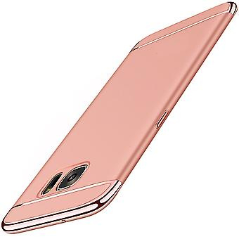 Cell phone cover case for Samsung Galaxy S6 bumper 3 in 1 cover rose gold