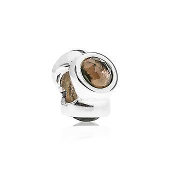 Pandora natuurlijk licht zilver & rokerige Quartz charme 790351SQ