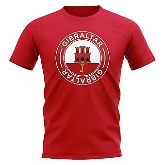 Gibraltars fotbollsmärke T-shirt (röd)