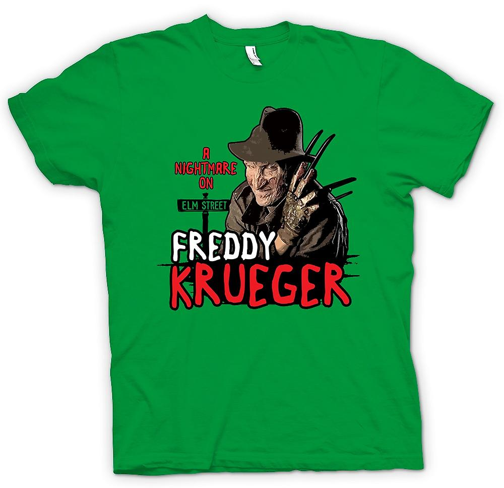 Mens T-shirt - Nightmare On Elm Street - Freddy Krueger