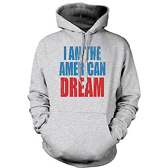 Womens Hoodie - I Am The American Dream - Funny