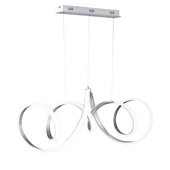 Wofi Toronto - Dimmable LED 1 Light Pendant Light Brushed Aluminium - 7095.01.63.7000