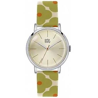 Orla Kiely Patricia Flower Prin Leather Strap OK2035 Watch
