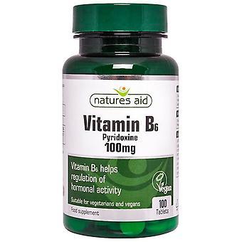Nature's Aid Vitamin B6 (High Potency) 100mg Tablets 100