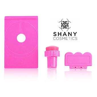 SHANY Stamping Nail Art Image Plate Holder/Scraper/Stamper - All in one set