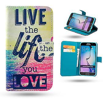 Samsung Galaxy S6 Edge geval/portemonnee-leef het leven