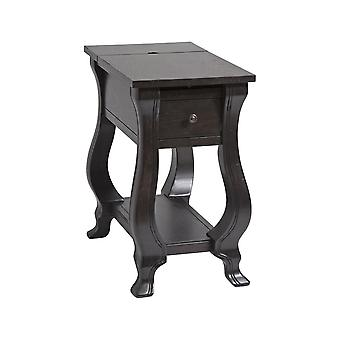 Espresso st. croix 1-drawer chairsider in espresso stein world