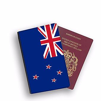 NEW ZEALAND Flag Passport Holder Style Case Cover Protective Wallet Flags design