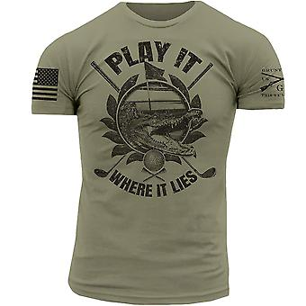 Grunt Style Play It Where It Lies T-Shirt - Green
