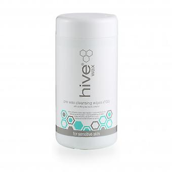 Hive Pre Waxing Cleansing Wipes Tea Tree & Camphor (100)