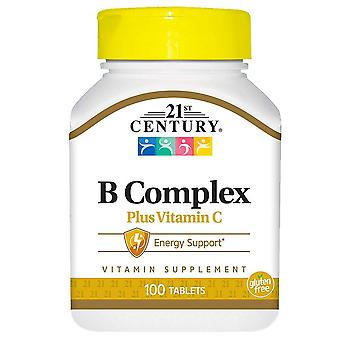 21st century b complex plus vitamin c, tablets, 100 ea