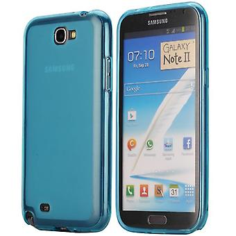 Soft TPU rubber cover for Samsung Galaxy Note 2 (blue)