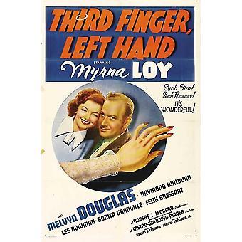Dritten Finger linke Hand Movie Poster drucken (27 x 40)