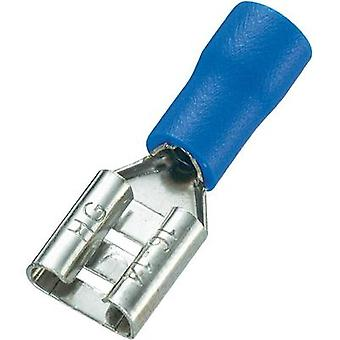 Blade receptacle Connector width: 6.4 mm Connector thickness: 0.8 mm 180 ° Partially insulated Blue Conrad Components 9