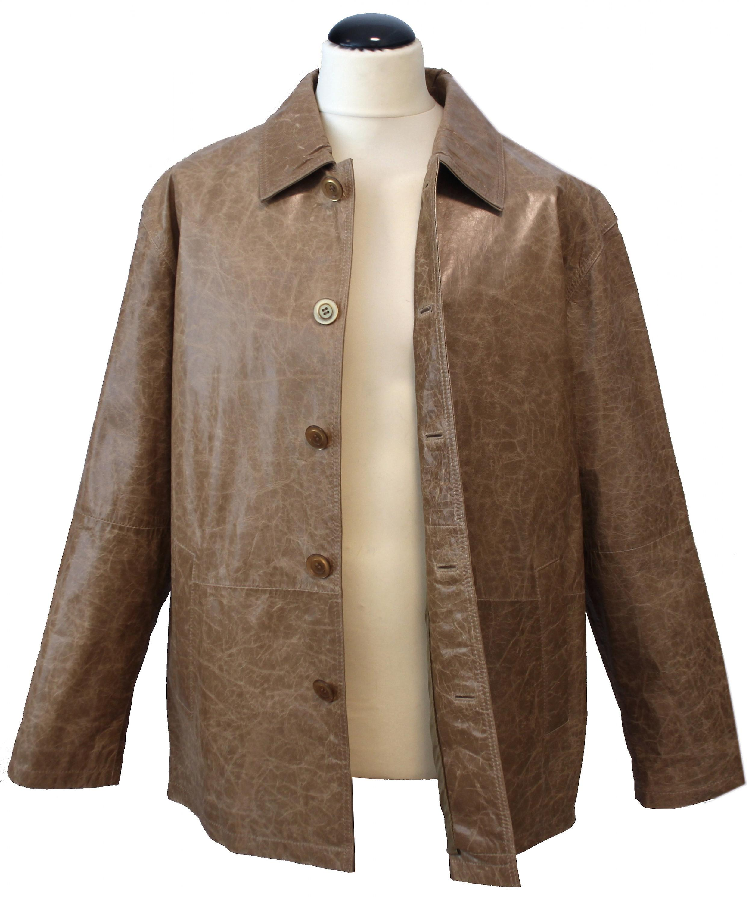 Curzio - leather jacket men's jacket waxed crushed leather comfort fit