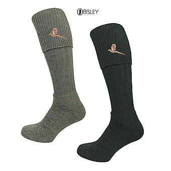 Bisley Socks - Pheasant Embroidered Breeks traditional shooting hunting socks