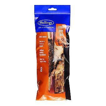 Hollings Jumbo oksekød ribber 2pk (pakke med 10)