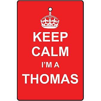 Keep Calm I'm An Thomas Car Air Freshener
