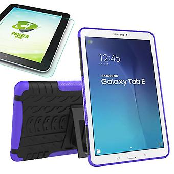Hybrid outdoor bag purple for Samsung Galaxy tab E 9.6 SM T560 + 0.4 armoured glass