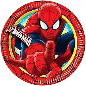 Disney Pack 20 Cm 8 Plates Spiderman (Kostüme)