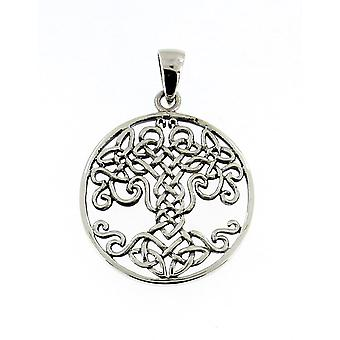 Handmade 925 Sterling Silver The Celtic Tree of Life Chain Pendant #2
