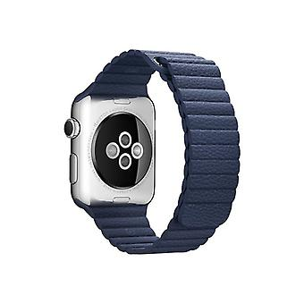 Apple 42 mm Leather Loop-Klockrem-Midnight Blue-Watch (42 mm)