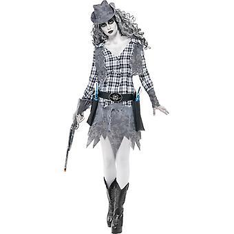 Ghost town Cowgirl zombie costume ladies Western Halloween