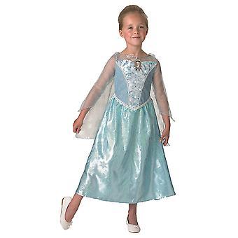 Costume principessa Elsa Frozen Ice Princess con musica ed effetti di luce bambini