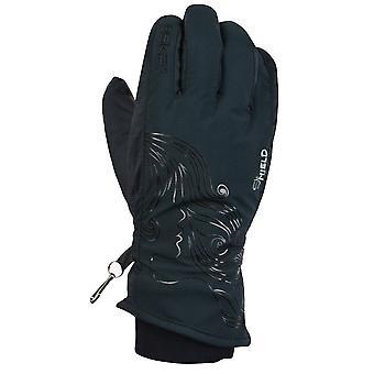 ESKA mujeres cara invierno esquiar guante negro