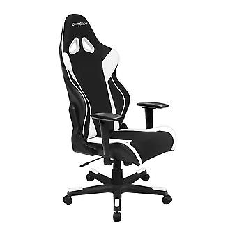 DX Racer DXRacer OH/RW106/NW High-Back X Rocker Gaming Chair Strong Mesh+PU(Black/White)