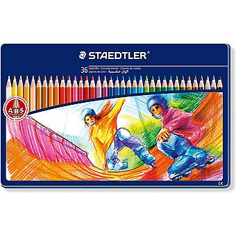 Staedtler Estuche Metal 36 Lápices Colores  (Toys , School Zone , Drawing And Color)