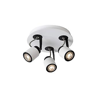 Lucide DICA Ceilinglight 320LM 3xGU10/5W 3000K bianco LED