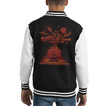 Context Sensitive Conkers Bad Fur Day Kid's Varsity Jacket