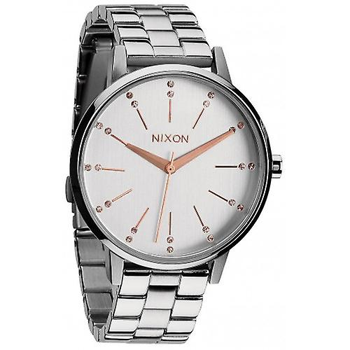 Nixon The Kensington Watch - Silver/Light Gold Crystal