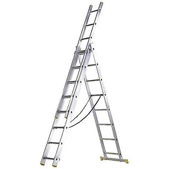 AFT Escalera Aluminium 3 Sections 9+ 9+ 9 Steps (DIY , Construction , Stairs)