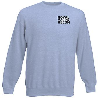 Royal Marines Recon Text Embroidered Logo - Official Heavyweight Sweatshirt