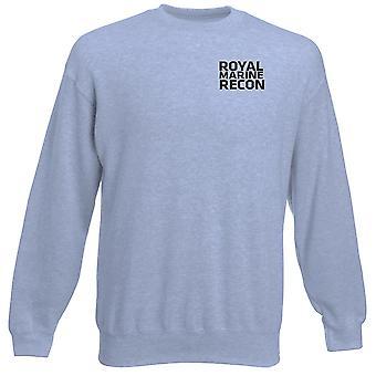 Royal Marines Recon Text bestickt Logo - offizielle Heavyweight Sweatshirt